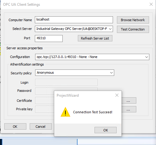 How to configure OPC UA Driver in Dream Report ka20h000000USWbAAO